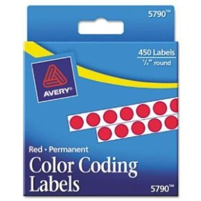 Avery Color Coding Labels